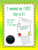 First Day of Kindergarten Keepsakes