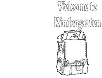 First Day of Kindergarten Mini Book