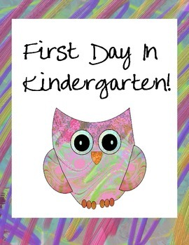 First Day of Kindergarten Owl Themed Signs