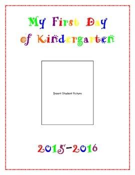 First Day of Kindergarten Poster