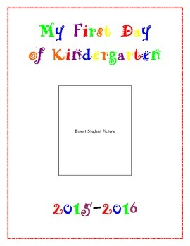 First Day of Kindergarten Poster