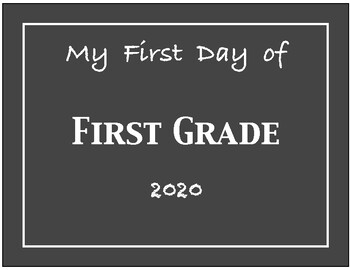 My First Day of Pre-K through 5th Grade Signs