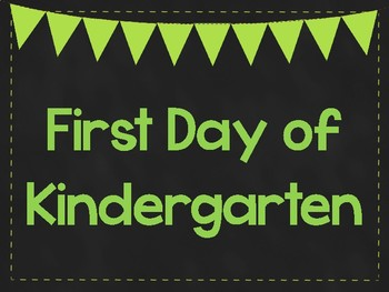First Day of Kindergarten Printable Posters. First Day of School Signs. 6 Colors