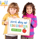 First Day of Kindergarten Sign - 1st Day of School Printable - Photo Props