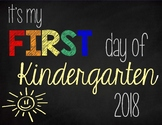 First Day of Kindergarten Sign (Rainbow): Printable Sign