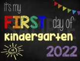 First Day of Kindergarten Sign (Rainbow): Printable