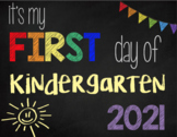 First Day of Kindergarten Sign (Rainbow): Printable