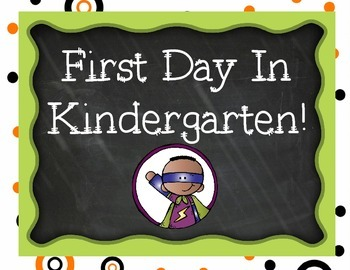 First Day of Kindergarten Signs Superhero Pack