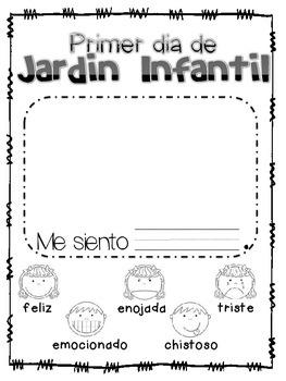 First Day of Kindergarten Spanish Version