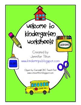 First Day of Kindergarten Worksheets and Activities