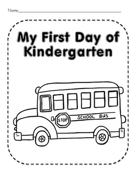 First Day of Kindergarten Worksheets and Activities by ...