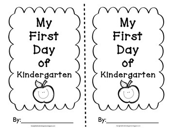 First Day of Kindergarten Writing
