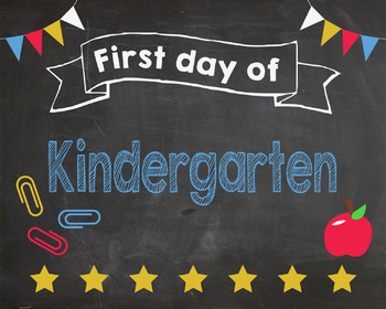 image relating to First Day of Kindergarten Sign Printable referred to as Initial Working day of Kindergarten signal - PRINTABLE