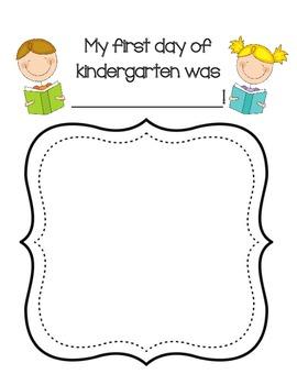 First Day of Kindergarten...FREEBIE!!