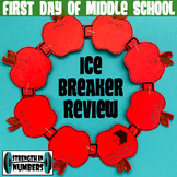 First Day of Middle School Math Review/Ice Breaker Apple Wreath