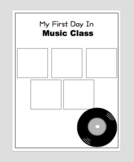 First Day of Music Class Graphic Organizer