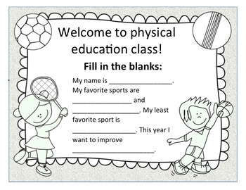 First Day of Physical Education Class
