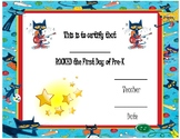 First Day of Pre-K Certificates
