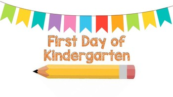 First Day of Pre-K Editable Sign