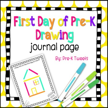 First Day of Pre-K Journal Page
