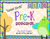First Day of Pre-K Postcards