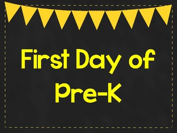 First Day of Pre-K Printable Posters. First Day of School Signs. 6 Colors.
