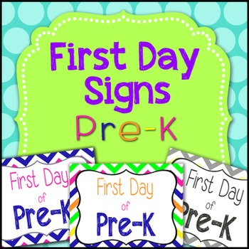 First Day of Pre-K Sign