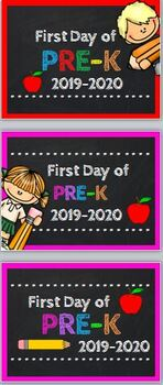First Day of Pre-K Sign 2019-20