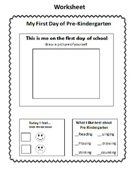 First Day of Pre-Kindergarten- Calming the Fear