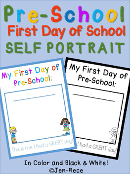 First Day of Pre-School Self Portrait