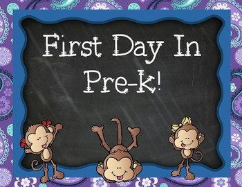 First Day of Pre-k Signs Pack