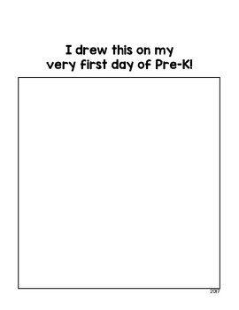 First Day of PreK Drawing Page