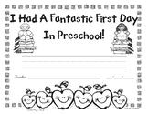 First Day of Preschool Awards - Free