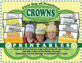 First Day of School Crowns **Preschool**