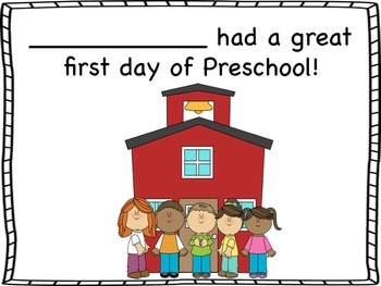 First Day of Preschool Certificates