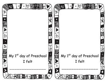 First Day of Preschool Feelings
