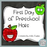 First Day of Preschool Hats