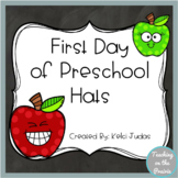 First Day of Preschool Hats