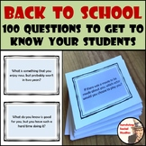 First Day of School: 100 Questions to Get to Know Your Students