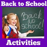 Back to School Activities | Kindergarten 1st Grade  | Firs