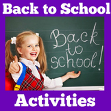 Kindergarten First Week of School | Activities