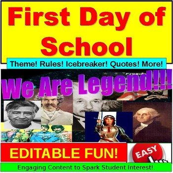 First Day of School PowerPoint EDITABLE