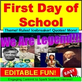 First Day of School PowerPoint, Google Slides EDITABLE