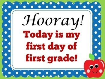 FREE 1st DAY OF SCHOOL SIGNS | GREEN APPLE LESSONS