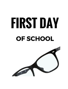 First Day of School activity for all subjects