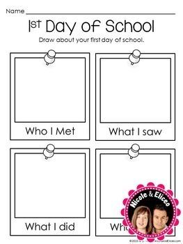 Back to School Activities - First Days of School