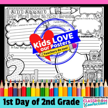 First Day of School: reflection activity for 2nd grade