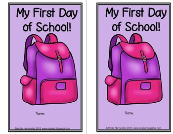 Back to School First Day of School Activity (Color and Keep)