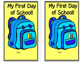First Day of School Activity (Color and Keep)