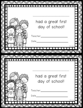 First Day of School: Activity Page (in 3 Levels) and First Day Certificate